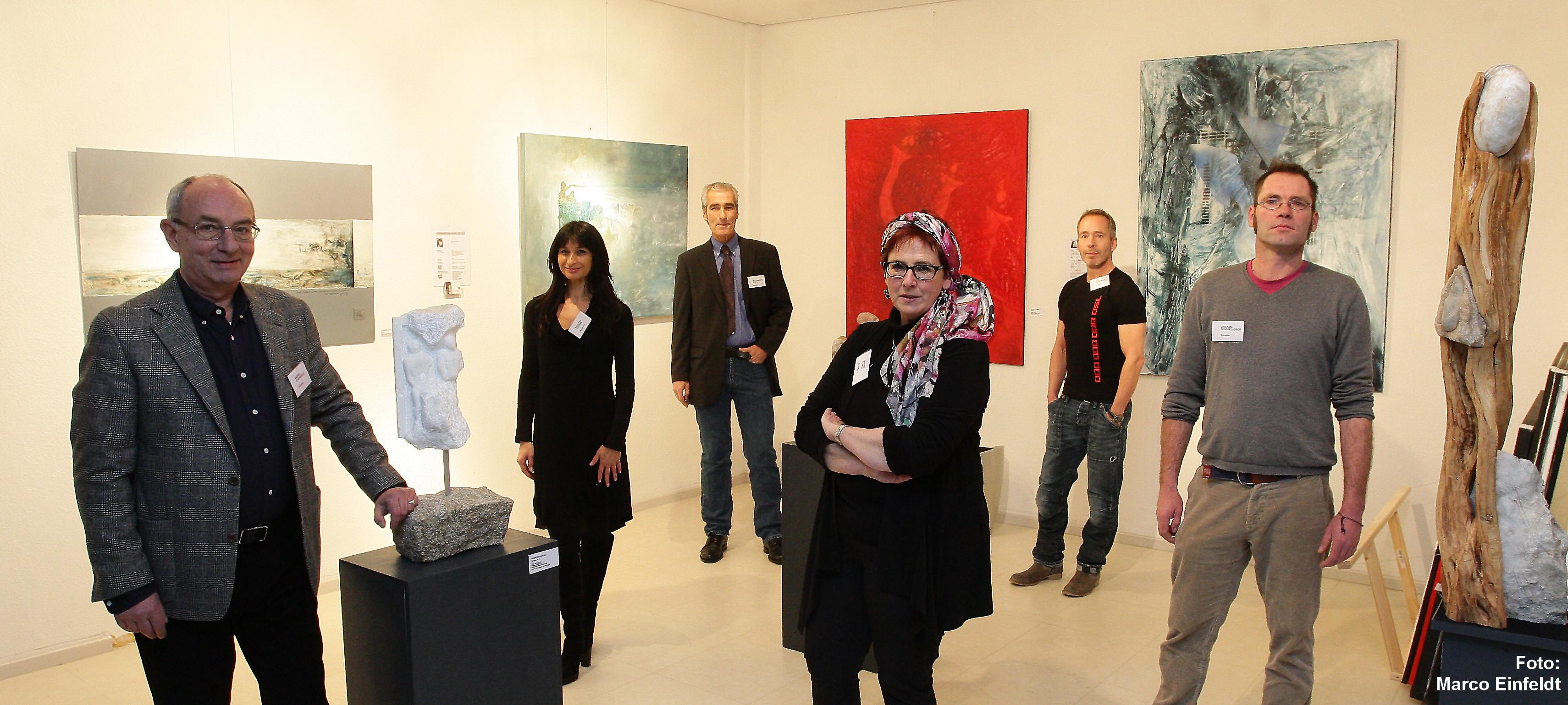 2014 Kunst-Klimazonen Eching, mit Künstlerkollegen