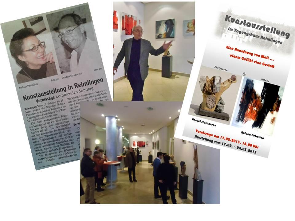 2013, Kolping-Haus, Reimlingen (mit der Malerin Raluca Petrulian)